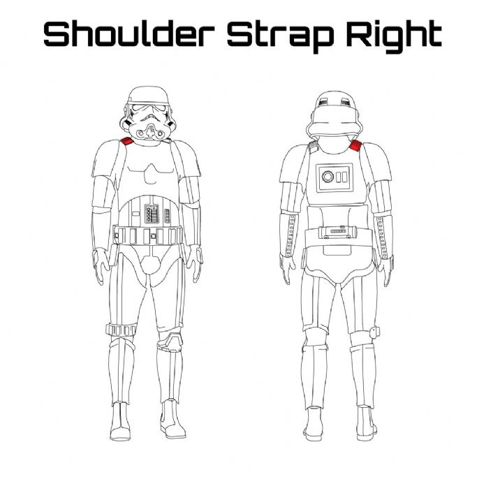 ORIGINAL STORMTROOPER ARMOUR PARTS [Shoulder Strap Right]